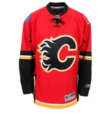 Calgary Flames Reebok Edge Premier Crested Hockey Jersey