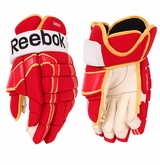 Calgary Flames Reebok Pro Stock Hockey Gloves
