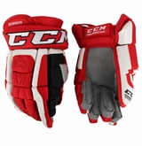 Carolina Hurricanes CCM 3 Pro Stock Hockey Gloves - Bowman