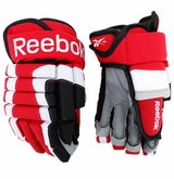 Carolina Hurricanes Reebok ST Pro Stock Hockey Gloves - Gleason