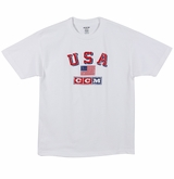 CCM 2215 Nations Sr. Short Sleeve Shirt - USA