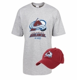 CCM 5046 Colorado Avalanche Sr. Hat/T-Shirt Combo