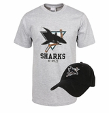 CCM 5046 San Jose Sharks Sr. Hat/T-Shirt Combo