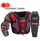 CCM U+ 12 Jr. Protective Equipment Combo