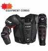 CCM U+ Crazy Light Midnight LE Jr. Protective Equipment Combo