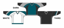 CCM Uncrested San Jose Hockey Jersey