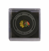Chicago Blackhawks Official NHL Game Puck with Cube
