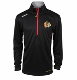 Chicago Blackhawks Reebok Baselayer Quarter Zip Pullover Performance Jacket