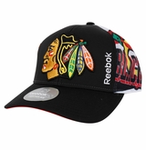 Chicago Blackhawks Reebok Center Ice Men's Playoff Structured Adjustable Cap