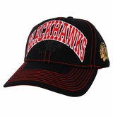 Chicago Blackhawks Reebok Face-Off Men's Wordmark Structured Adjustable Cap