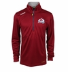 Colorado Avalanche Reebok Baselayer Quarter Zip Pullover Performance Jacket