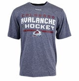 Colorado Avalanche Reebok Center Ice Locker Room Sr. Short Sleeve Performance Shirt