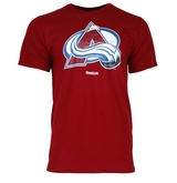 Colorado Avalanche Reebok Face-Off Carbon Logo Sr. Short Sleeve Tee Shirt