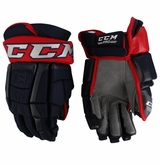 Columbus Blue Jackets CCM 3 Pro Stock Hockey Gloves