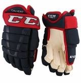 Columbus Blue Jackets CCM 96X Pro Stock Hockey Gloves - Calvert