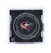 Columbus Blue Jackets Official NHL Game Puck with Cube