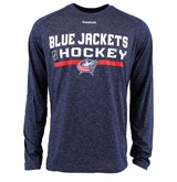 Columbus Blue Jackets Reebok Center Ice Locker Room Sr. Long Sleeve Performance Shirt