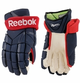 Columbus Blue Jackets Reebok Pro Stock 11K Hockey Gloves