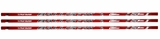 Combat Ballistik 50 Caliber Clear Tapered Sr. Hockey Shaft - 3 Pack