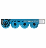 Crazy Monkey Outdoor 84A Inline Hockey Wheel - Cyan Blue - 4 pack