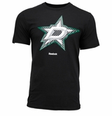 Dallas Stars Reebok Carbon Faceoff Logo Sr. Short Sleeve Tee