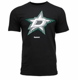 Dallas Stars Reebok Face-Off Carbon Logo Sr. Short Sleeve Tee Shirt