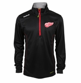 Detroit Red Wings Reebok Baselayer Quarter Zip Pullover Performance Jacket