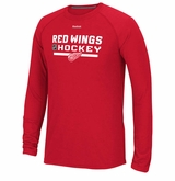 Detroit Red Wings Reebok Center Ice Locker Room Sr. Long Sleeve Performance Shirt