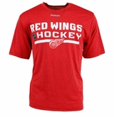 Detroit Red Wings Reebok Center Ice Locker Room Sr. Short Sleeve Performance Shirt
