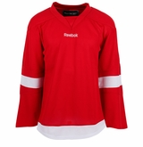 Detroit Red Wings Reebok Edge Gamewear Uncrested Junior Hockey Jersey