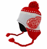 Detroit Red Wings Reebok Face-Off Men's Tassel Knit Beanie