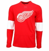 Detroit Red Wings Reebok Face-Off Sr. Long Sleeve Jersey Tee
