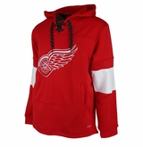 Detroit Red Wings Reebok Face-Off Team Jersey Sr. Hooded Sweatshirt