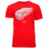 Detroit Red Wings Reebok Face-Off Carbon Logo Sr. Short Sleeve Tee Shirt