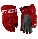 Detroit Redwings CCM 3 Pro Stock Hockey Gloves - Pulkkinen
