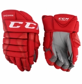 Detroit Redwings CCM 852 Pro Stock Hockey Gloves - Sheahan