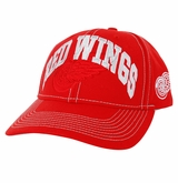 Detroit Red Wings Reebok Face-Off Men's Wordmark Structured Adjustable Cap
