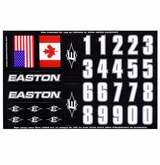Easton Number Decals