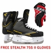 Easton Stealth 75S Jr. Ice Hockey Skates w/ Free Stealth 75S II Jr. Gloves