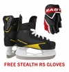 Easton Stealth 75S Yth. Ice Hockey Skates w/ Free Stealth RS Yth. Gloves