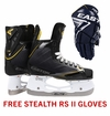 Easton Stealth RS Jr. Ice Hockey Skates w/ Free Stealth RS II Jr. Gloves