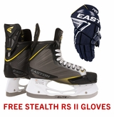 Easton Stealth RS Sr. Ice Hockey Skates w/ Free Stealth RS II Sr. Gloves