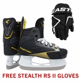 Easton Stealth RS Yth. Ice Hockey Skates w/ Free Stealth RS II Yth. Gloves