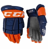 Edmonton Oilers CCM 3 Pro Stock Hockey Gloves - Nugent-Hopkins
