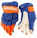 New York Islanders Reebok 10KN Pro Stock Hockey Gloves - Carkner