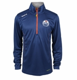 Edmonton Oilers Reebok Baselayer Quarter Zip Pullover Performance Jacket
