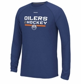 Edmonton Oilers Reebok Center Ice Locker Room Sr. Long Sleeve Performance Shirt
