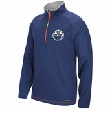 Edmonton Oilers Reebok Center Ice Sr. Quarter Zip Pullover