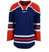 Edmonton Oilers Reebok Edge Gamewear Uncrested Junior Hockey Jersey