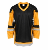 Firstar Stadium Hockey Jersey - Black/Gold/Gray